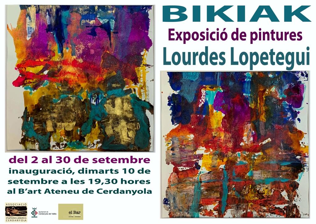 Exposició individual de Lourdes Lopetegui @ Ateneu de Cerdanyola del Vallès · Sala B'Art