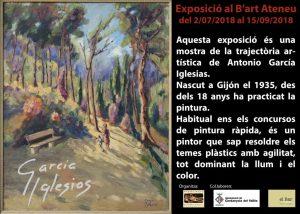 Exposició individual de Antonio García @ Ateneu de Cerdanyola del Vallès · Sala B'Art