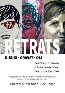 Exposició individual de Maribel Espinosa, Elvira Fernández i M. José Escuder @ Ateneu de Cerdanyola del Vallès · Sala B'Art